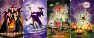 Halloween Magick tarot by Roxana Paul